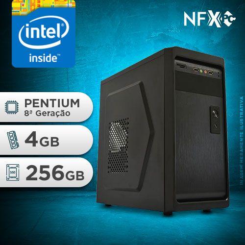 NFX PC G5400 - 242P SSD ( INTEL PENTIUM G5400 [8ª GERAÇÃO] / 4GB / SSD 256GB )
