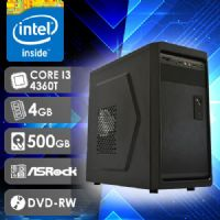 NFX PC I3 4360T - 245RD ( Core I3 4360T / HD 500GB / 4GB RAM / DVD-RW / MB ASROCK / LINUX )