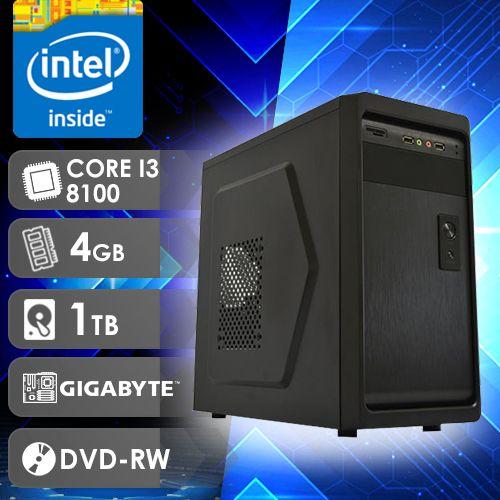 NFX PC I3 8100 - 241TGD ( CORE I3 8100 / HD 1TB / 4GB RAM / DVD-RW / MB GIGABYTE / LINUX )