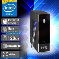 NFX PC I3 7350K - 141G SSD VESA ( CORE I3 7350K / SSD 120GB / 4GB RAM / VESA / MB GIGABYTE / LINUX )