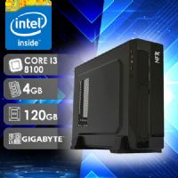 NFX PC I3 8100 - 141G SSD SLIM ( Core I3 8100 / SSD 120GB / 4GB RAM / MB GIGABYTE / LINUX )