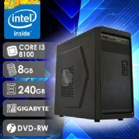 NFX PC I3 8100 - 282GD SSD ( CORE I3 8100 / SSD 240GB / 8GB RAM / DVD-RW / MB GIGABYTE / LINUX )