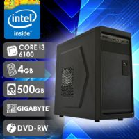 NFX PC I3 6100 - 245GD (CORE I3 6100 / HD 500GB / 4GB RAM / DVD-RW / MB GIGABYTE / LINUX)