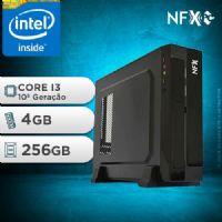 NFX PC I3 10100F - 142G SSD SLIM ( INTEL CORE I3 [10ª GERAÇÃO] / 4GB / SSD 256GB / GT210 1GB