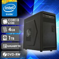 NFX PC I3 6100 - 241TGD ( CORE I3 6100 / HD 1TB / 4GB RAM / DVD-RW / MB GIGABYTE / LINUX )