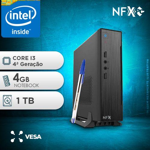 NFX PC-4 I3 - 141T MINI/VESA ( INTEL CORE I3 [4ª GERAÇÃO] / 4GB / HD 1TB / VESA )