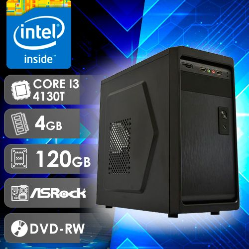 NFX PC I3 4130T - 241RD SSD LIMITED ( Core I3 4130T / SSD 120GB / 4GB RAM / DVD-RW / MB ASROCK / LINUX )