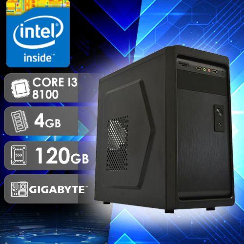 NFX PC I3 8100 - 241G SSD ( Core I3 8100 / SSD 120GB / 4GB RAM / MB GIGABYTE / LINUX )