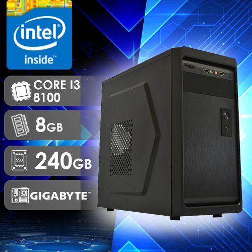 NFX PC I3 8100 - 282G SSD ( CORE I3 8100 / SSD 240GB / 8GB RAM / MB GIGABYTE / LINUX )