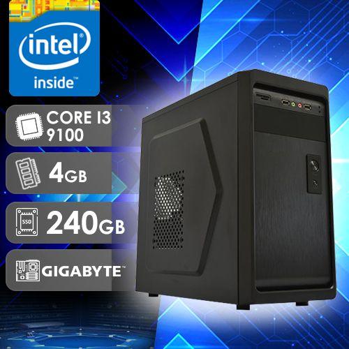 NFX PC I3 9100 - 242G SSD ( CORE I3 9100F / SSD 240GB / 4GB RAM / GT210 1GB / MB GIGABYTE / LINUX )