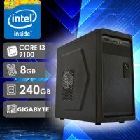 NFX PC I3 9100 - 282G SSD ( CORE I3 9100F / SSD 240GB / 8GB RAM / GT210 1GB / MB GIGABYTE / LINUX )