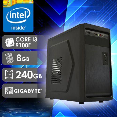 NFX PC I3 9100F - 282G SSD ( CORE I3 9100F / SSD 240GB / 8GB RAM / GT210 1GB / MB GIGABYTE / LINUX )