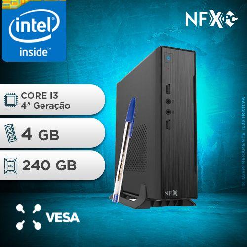 NFX PC-4 I3 - 142 SSD MINI/VESA ( CORE I3 [4ª GERAÇÃO] / 4GB / SSD 240GB / VESA )