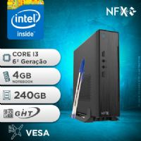 NFX PC-6 I3 - 142 SSD MINI/VESA ( CORE I3 [6ª GERAÇÃO] / 4GB / SSD 240GB / VESA )