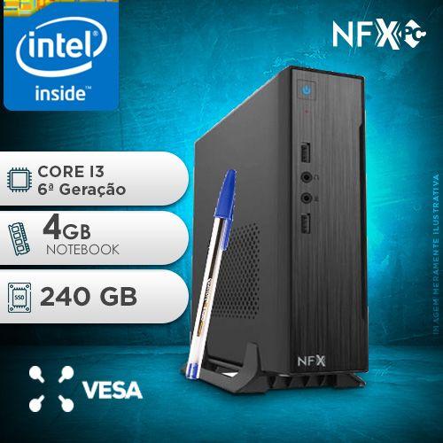 NFX PC-6 I3 - 142 SSD MINI/VESA ( INTEL CORE I3 [6ª GERAÇÃO] / 4GB / SSD 240GB / VESA )