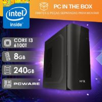 PC IN THE BOX I3 6100T - 382 SSD 500W (CORE I3 6100T / SSD 240GB / 8GB RAM / MB PCWARE )