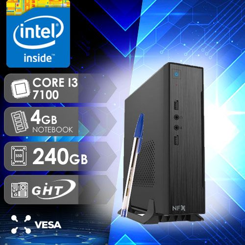 NFX PC I3 7100 - 142 SSD MINI/VESA ( CORE I3 7100 / SSD 240GB / 4GB RAM NOTEBOOK / VESA / MB GHT H110-G315 )
