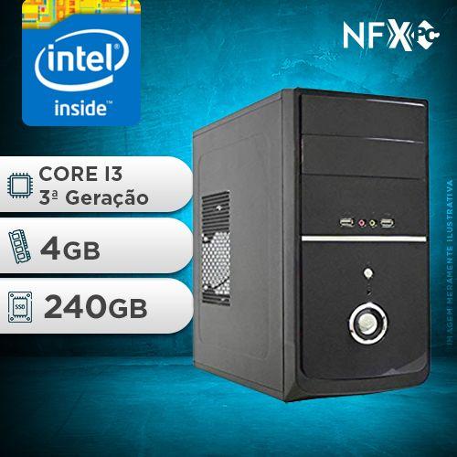 NFX PC-3 I3 - 242 SSD ( INTEL CORE I3 [3ª GERAÇÃO] / 4GB / SSD 240GB )