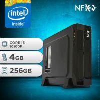 NFX PC I3 10100F - 142 SSD SLIM ( CORE I3 10100F [10ª GERAÇÃO] / 4GB / SSD 256GB / GT 210 1GB )