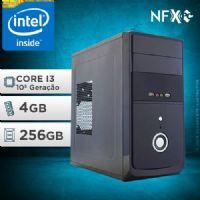 NFX PC I3 10100F - 242G SSD ( INTEL CORE I3 [10ª GERAÇÃ0] / 4GB / SSD 256GB / GT210 1GB)