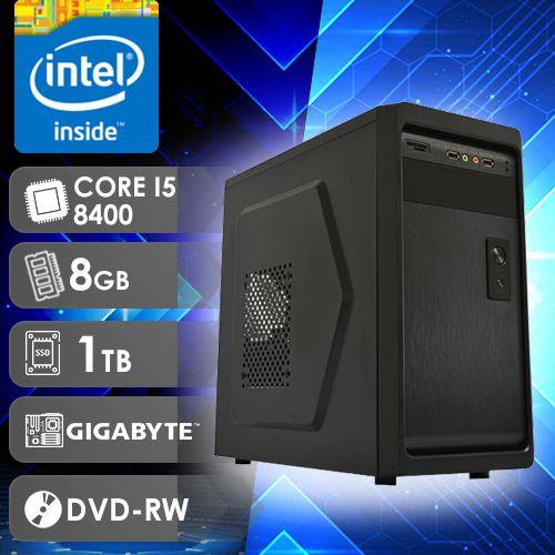 NFX PC I5 8400 - 281TGD  ( CORE I5 8400 / HD 1TB / 8GB RAM / DVD-RW / MB GIGABYTE / LINUX )