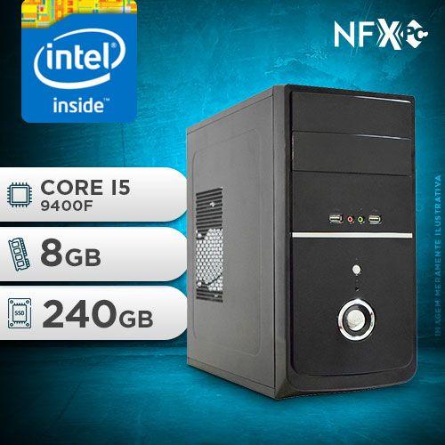NFX PC I5 9400F - 282G SSD ( CORE I5 9400F / SSD 240GB / 8GB RAM / GT210 1GB / MB GIGABYTE / LINUX )