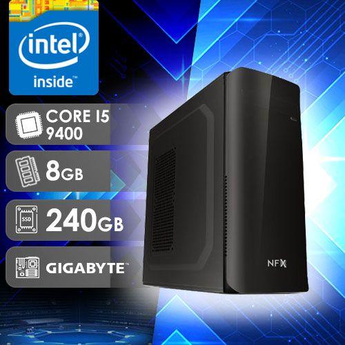 NFX PC I5 9400 - 382G SSD ( CORE I5 9400 / SSD 240GB / 8GB RAM / MB GIGABYTE )