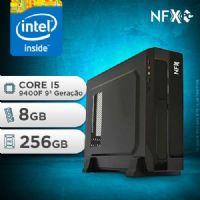 NFX PC I5 9400F - 182 SSD SLIM ( INTEL CORE I5 9400F [9ª GERAÇÃO] / 8GB / GT210 1GB / SSD 256GB )