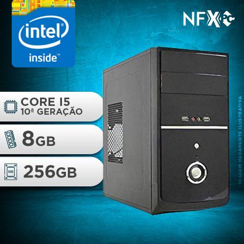 NFX PC I5 10400F - 282G SSD ( INTEL CORE I5 10400F [10ª GERAÇÃ0] / 8GB / SSD 256GB / GT210 1GB )