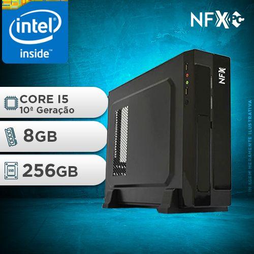 NFX PC I5 10400F - 182G SSD SLIM ( INTEL CORE I5 [10ª GERAÇÃO] / 8GB / SSD 256GB / GT210 1GB)