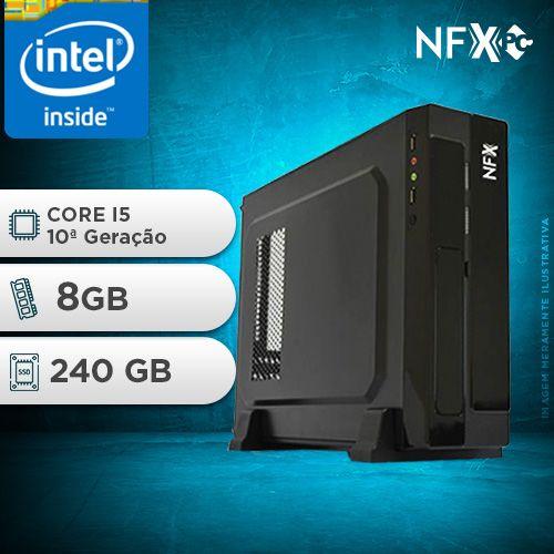 NFX PC I5 10400F - 182G SSD SLIM ( INTEL CORE I5 [10ª GERAÇÃO] / 8GB / SSD 240GB / GT210 1GB)