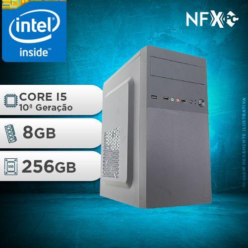 NFX PC I5 10400F - 282G SSD ( INTEL CORE I5 [10ª GERAÇÃO] / 8GB / SSD 256GB / GT210 1GB )
