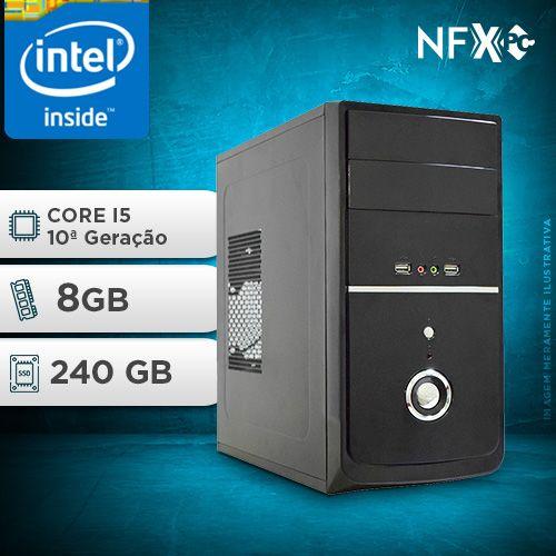 NFX PC I5 10400F - 282G SSD ( INTEL CORE I5 [10ª GERAÇÃO] / 8GB / SSD 240GB / GT210 1GB )