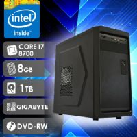 NFX PC I7 8700 - 281TGD ( Core I7 8700 / HD 1TB / 8GB RAM / DVD-RW / MB GIGABYTE / LINUX )