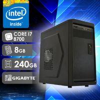 NFX PC I7 8700 - 282G SSD ( Core I7 8700 / SSD 240GB / 8GB RAM / MB GIGABYTE / LINUX )