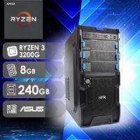 NFX PC RYZEN 3200G - 382A SSD ( RYZEN 3 3200G / SSD 240GB / 8GB RAM / MB ASUS PRIME B450M-GAMING/BR )