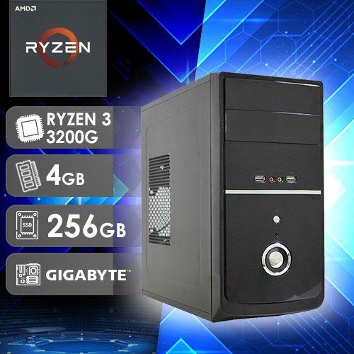 NFX PC AMD RYZEN 3 3200G - 242G SSD ( AMD RYZEN 3 3200G / SSD 256GB / 4GB RAM / MB GIGABYTE A320M-S2H )