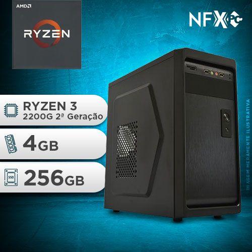 NFX PC RYZEN 3 2200G - 242 SSD ( AMD RYZEN 3 2200G [2ª GERAÇÃO] / 4GB / SSD 256GB )