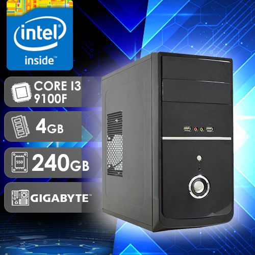 NFX PC I3 9100F - 242G SSD ( CORE I3 9100F / SSD 240GB / 4GB RAM / GT220 1GB /MB GIGABYTE )