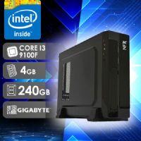 NFX PC I3 9100F - 142G SSD SLIM ( CORE I3 9100F / SSD 240GB / 4GB RAM / GT210 1GB / MB GIGABYTE )