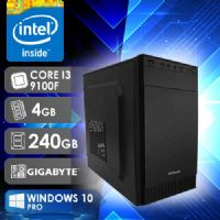 NFX PC I3 9100F - 242G SSD W10 ( CORE I3 9100F / SSD 240GB / 4GB RAM / GT210 1GB / MB GIGABYTE / WINDOWS 10 PRO )