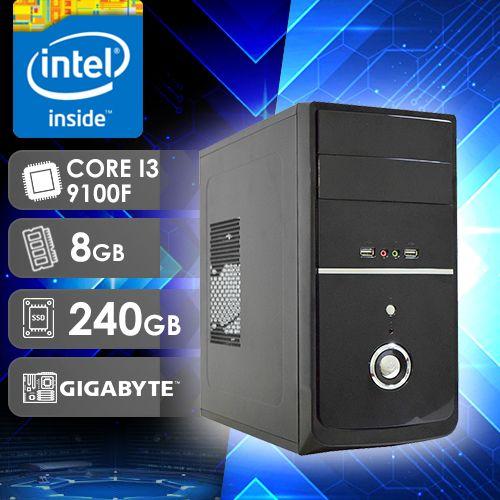 NFX PC I3 9100F - 282G SSD ( CORE I3 9100F / SSD 240GB / 8GB RAM / GT210 1GB / MB GIGABYTE )