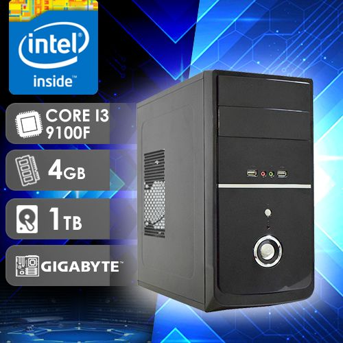 NFX PC I3 9100F - 241TG ( CORE I3 9100F / HD 1TB / 4GB RAM / GT210 1GB / MB GIGABYTE )