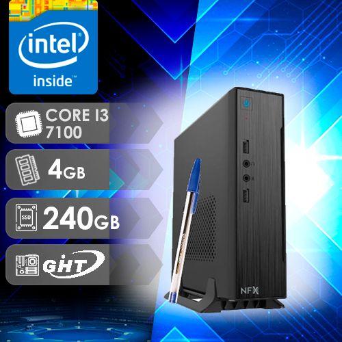 NFX PC I3 7100 - 142 SSD MINI/VESA ( CORE I3 7100 / SSD 240GB / 4GB RAM / MB GHT ITX )