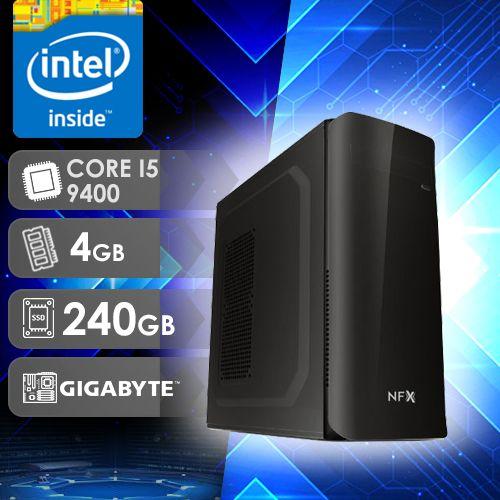 NFX PC I5 9400 - 342G SSD ( CORE I5 9400 / SSD 240GB / 4GB RAM / MB GIGABYTE )