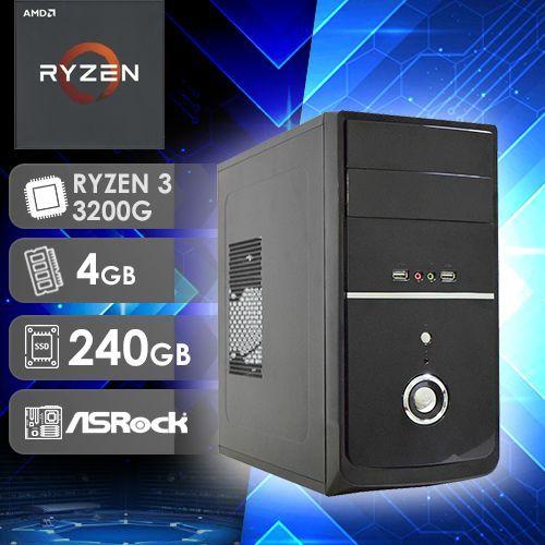 NFX PC AMD RYZEN 3 3200G - 242R SSD ( AMD RYZEN 3 3200G / SSD 240GB / 4GB RAM / MB ASROCK )
