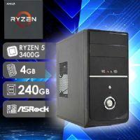 NFX PC AMD RYZEN 5 3400G - 242R SSD ( AMD RYZEN 5 3400G / SSD 240GB / 4GB RAM / MB ASROCK )
