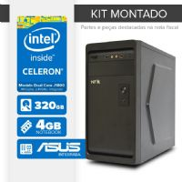 Kit montado Processador Intel Dual Core J1800 / 4GB de RAM / 320GB de HD / MB ASUS / 1 serial