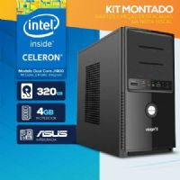 KIT MONTADO - Processador Intel Dual Core J1800 / 4GB RAM / HD 320GB  / 1x SERIAL / MB ASUS / LINUX