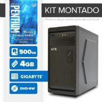 KIT MONTADO - Processador Intel G4400 / 4GB / HD 500GB / MB GIGABYTE / DVD-RW / Linux